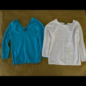 Made in Italy of Benetton 2 Turquoise White top S